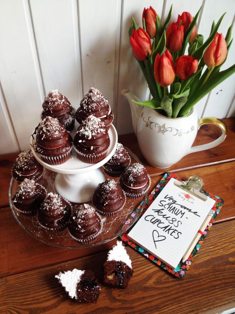vegane Schaumkuss Cupcakes