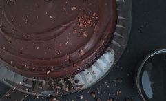 Veganer Schoko Lavendel Kuchen